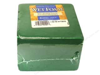 Tapes Floral Arranging: FloraCraft Wet Foam 2 7/8 x 3 7/8 x 4 3/8 in.