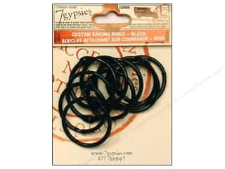 7 Gypsies Binding Rings Medium Black 10pc