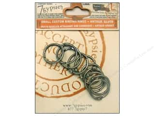 7 Gypsies Binding Rings Small Antique Silver 10pc