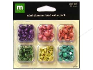 Making Memories Brads Value Pack Mini Shimmer Circle Polo