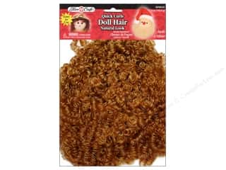 26-gauge floral wire: Fibre-Craft Doll Hair Quick Curls 4oz Blond/LtBrn
