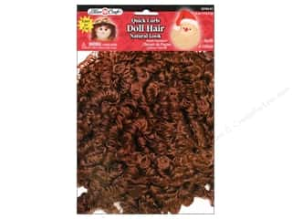 26-gauge floral wire: Fibre-Craft Doll Hair Quick Curls 4oz Lt Brn/DkBn