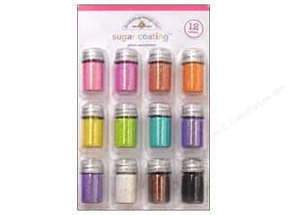 Stamps Embossing / Glitters / Foils: Doodlebug Glitter Sugar Coating Assorted 12pc