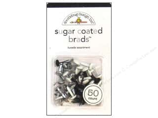 color brads: Doodlebug Brads Assorted Sugar Coated Tuxedo 50pc