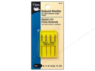 Singer Dritz: Machine Needles by Dritz Ballpoint 9,11,14 4 pc