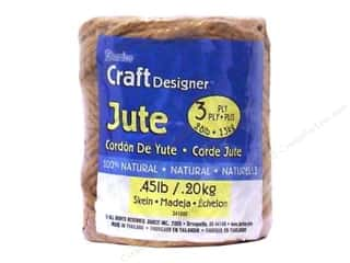 Gift Wrap & Tags: Darice Jute 3 Ply Natural .45lb/98yd