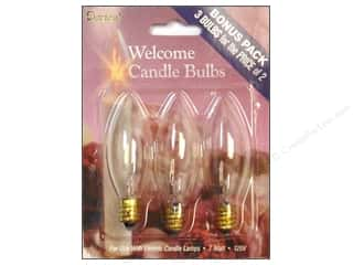 Lights: Darice Replacement Candle Bulb 7 Watt 3 pc