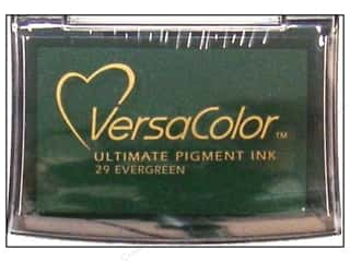 Tsukineko New: Tsukineko VersaColor Large Pigment Ink Stamp Pad Evergreen