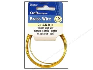 "7"" wire: Darice Craft Wire 16 Ga Gold 7ft"