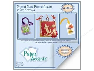 Paper Accents Clear: Plastic Sheet 8 x 8 in. by Paper Accents Clear .02 in. (25 sheets)