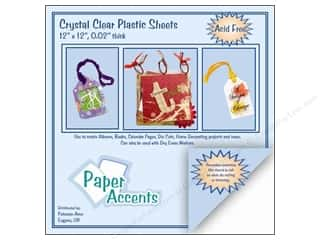 "Paper Accents Plastic Sheet 12x12 Transparent Blue .020"" (25 sheets)"