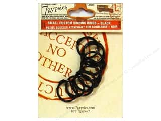 Scrapbooking & Paper Crafts binding ring: 7 Gypsies Binding Rings Small Black 10pc