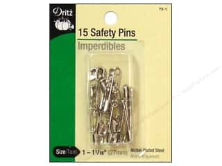 metric pins: Safety Pins by Dritz 1 1/16 in. Nickel 15pc