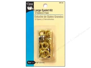 "Dritz Eyelet Kit 1/4"" Large w/Attach Tool Gilt"