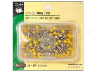 Dritz Pins Quilting Size 28 Yellow Head 175pc