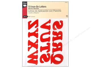 J. W. Etc: Large Iron-On Letters by Dritz Red