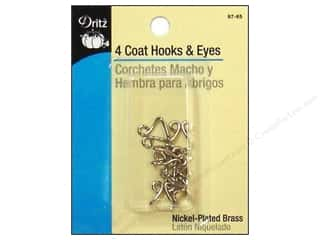 Dritz Hooks & Eyes Coat Nickel 4 pc