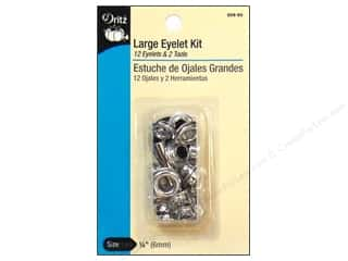"Dritz Eyelet Kit 1/4"" Large w/Attach Tool Nickel"