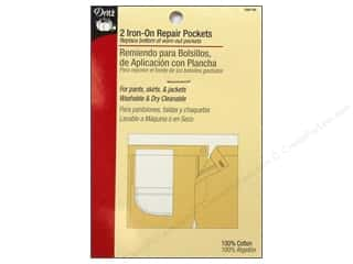 Iron On Repair Pockets by Dritz White 2pc