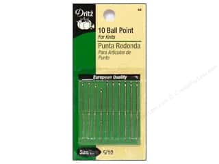 $5 - $10: Ball Point Hand Needles by Dritz Size 5/10 10pc.