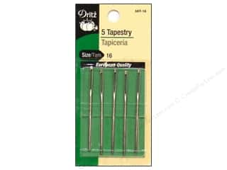 tapestry needle: Dritz Hand Needles Tapestry Size 16 5pc (3 packages)