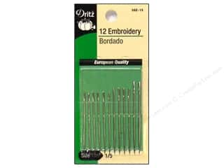 Dritz Notions Yarn & Needlework: Embroidery Needles by Dritz Size 1/5 12pc (3 packages)