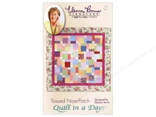 Brookshier Design Studio Charm Pack Patterns: Quilt In A Day Tossed Nine Patch Pattern