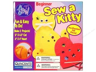 Colorbok Colorbok You Design It Kit: Colorbok Learn To Kit Sew a Kitty Heart Beginner