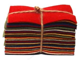 National Non Wovens Wool Fabrics: National Nonwovens WoolFelt Charm Pack 100% Wool