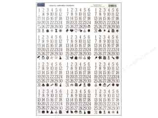 "Finishes ABC & 123: Karen Foster Sticker 8""x 10"" Calendar Clear"
