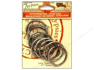 Scrapbooking & Paper Crafts binding ring: 7 Gypsies Binding Rings Medium Antique Silvr 10pc