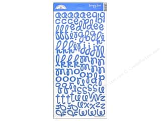 Stickers Alphabet Stickers / Number Stickers: Doodlebug Alphabet Stickers Cardstock Loopy Lou Blue Jean
