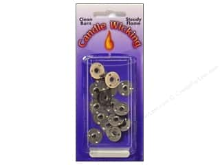 Pepperell Braiding Co: Pepperell Candle Wick Tab Sustainers 15mm 12pc