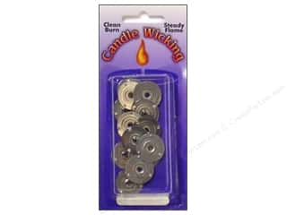 Pepperell Braiding Co: Pepperell Candle Wick Tab Sustainers 20mm 12pc