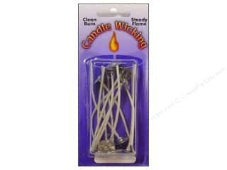 Pepperell Braiding Co. Black: Pepperell Candle Wick Tab Prewaxed Wire Medium 3 in. 12 pc