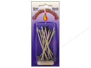 Candlemaking inches: Pepperell Candle Wick Tab Prewaxed Wire Small 3 in. 12 pc