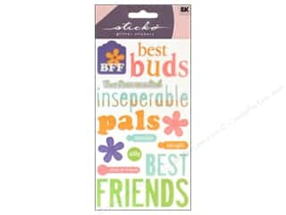 Captions Clearance: EK Sticko Stickers Friendship