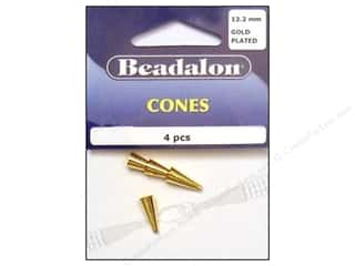 Beadalon Cone 12.2mm Gold 4 pc