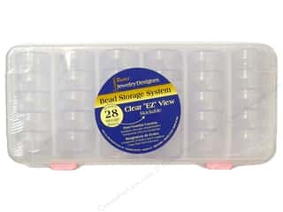 Brads paper dimensions: Darice Jewelry Designer Bead Storage System With 28 Containers