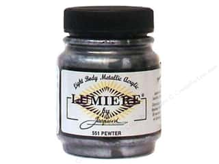 acrylic paint: Jacquard Lumiere Paint 2.25 oz. Pewter