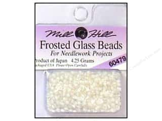 11/0 Glass Seed Beads by Mill Hill  Frosted White