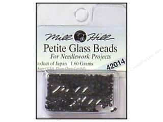 Beads Black: Millhill Petite Glass Bead Black