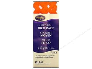 Wrights Rick Rack Medium Orange 2 1/2 yd.