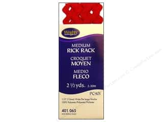 wrights rick rack: Wrights Rick Rack Medium 2 1/2 yd. Red