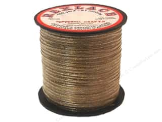 Pepperell Lace Rexlace 100yd Spool Gold Sparkle