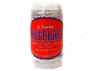 Pepperell Lace Rexlace 5yd Mini Spool Silver Holo (3 spools)