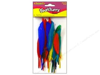 "26-gauge floral wire: Fibre-Craft Feathers 3"" Multi 24pc"
