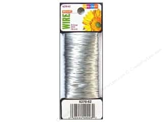 26-gauge floral wire: Fibre-Craft Paddle Wire 26 Ga Silver 270 ft