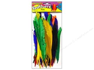 26-gauge floral wire: Fibre-Craft Feathers Multi Big Pak 40 pc