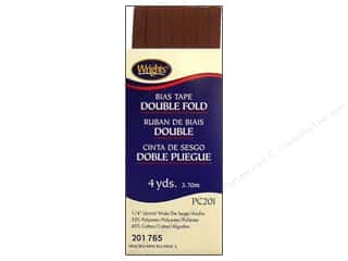 wrights bias tape double: Wrights Double Fold Bias Tape Mocha 4 yd.